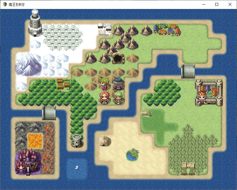 RPGツクールMV:王様と魔王を登場させる